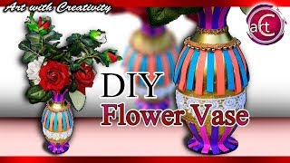 Best out of Waste | Plastic bottle Flower Vase | Flower pot | DIY | Art with Creativity 248