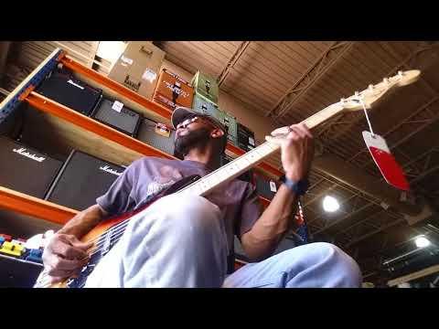 Sam Johnson bass player Tampa music store(3)