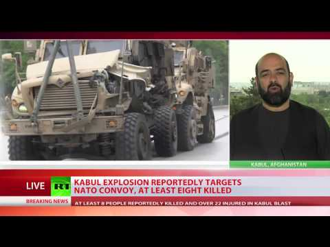 Suicide blast rocks NATO vehicles in Kabul, at least 8 people killed