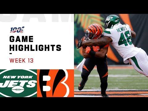 Jets Vs. Bengals Week 13 Highlights | NFL 2019