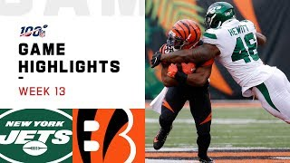 Jets vs. Bengals Week 13 Highlights | NFL 2019