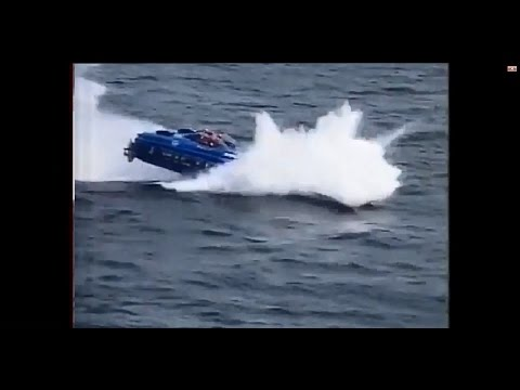 CRASH COMPILATION OFFSHORE POWERBOAT, CRASH,SUBMERGED,FIRE