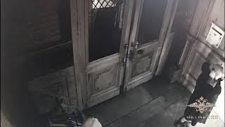 МВД России  публикует видео нападения на храм святителя Николая Чудотворца в Москве