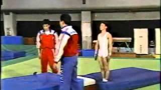 テレビスポーツ教室  体操ゆか・後方系のタンブリング