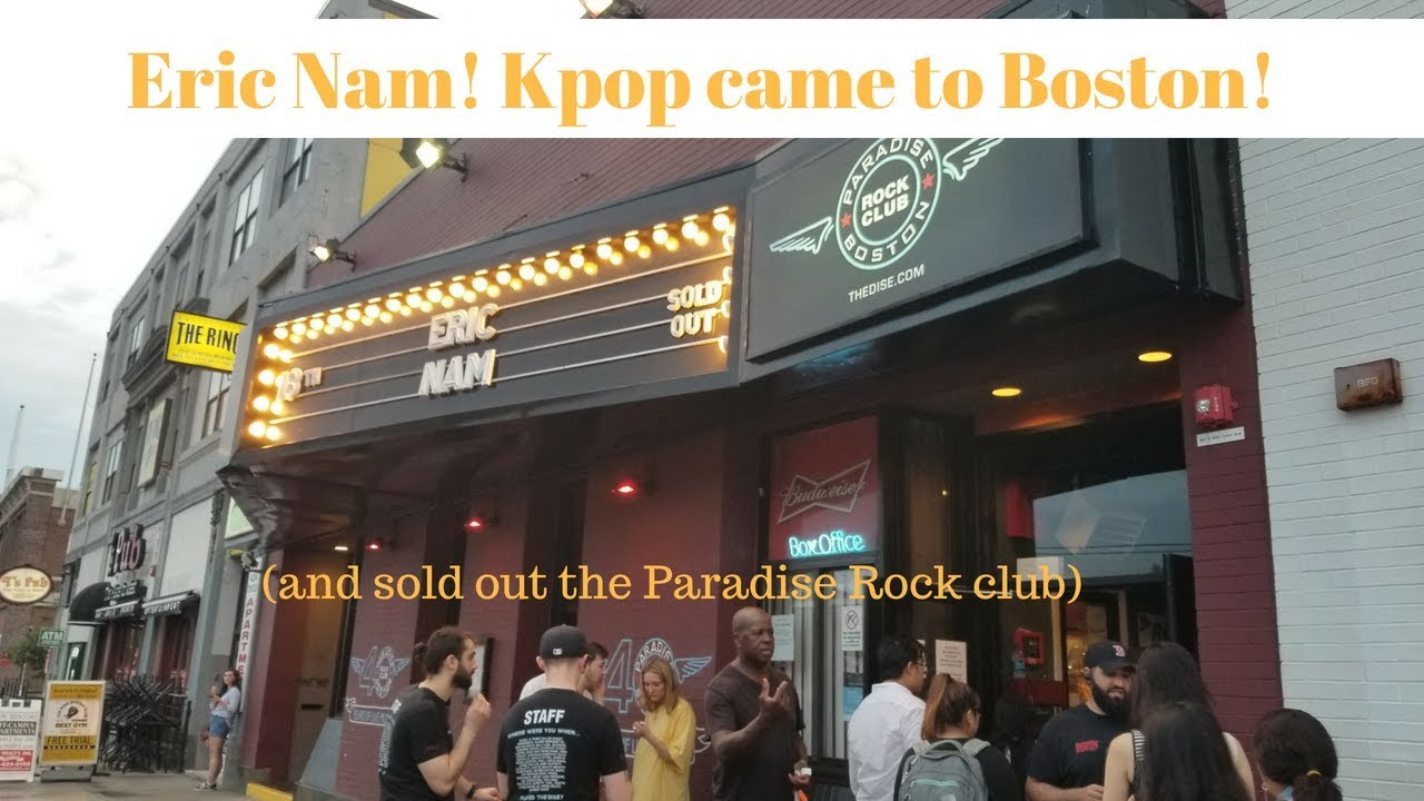 Eric Nam! Kpop came to Boston! (and sold out the Paradise Rock Club)
