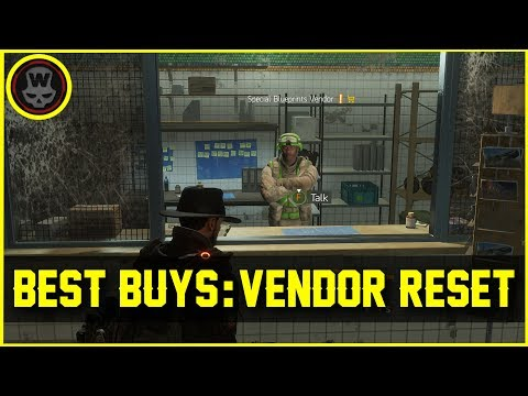 Best Buys @ Vendor Reset June 10 (The Division 1.6.1)