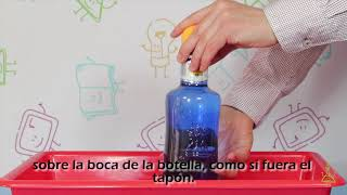 Experimento casero con agua. Botella mágica. DIVERTIAULA.