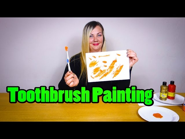 Toothbrush Painting