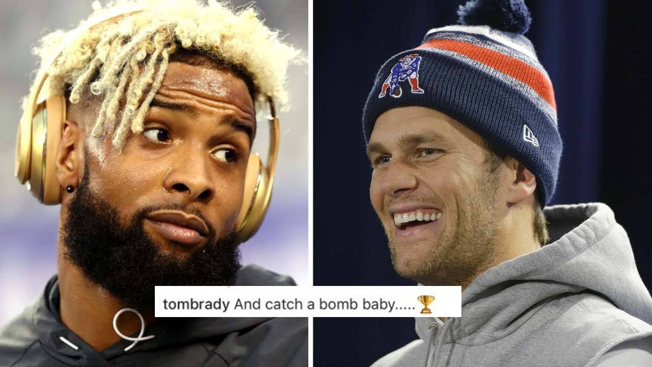 4e972d04fd5 Tom Brady Surprisingly Helps Odell Beckham Jr Finish Lil Wayne Rap Lyrics