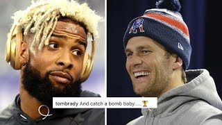 Tom Brady Surprisingly Helps Odell Beckham Jr Finish Lil Wayne Rap Lyrics