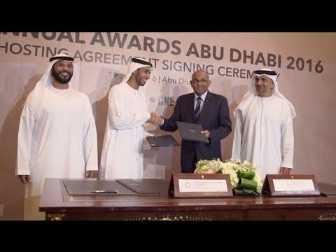 Asian Football Confederation Awards Signing in Abu Dhabi