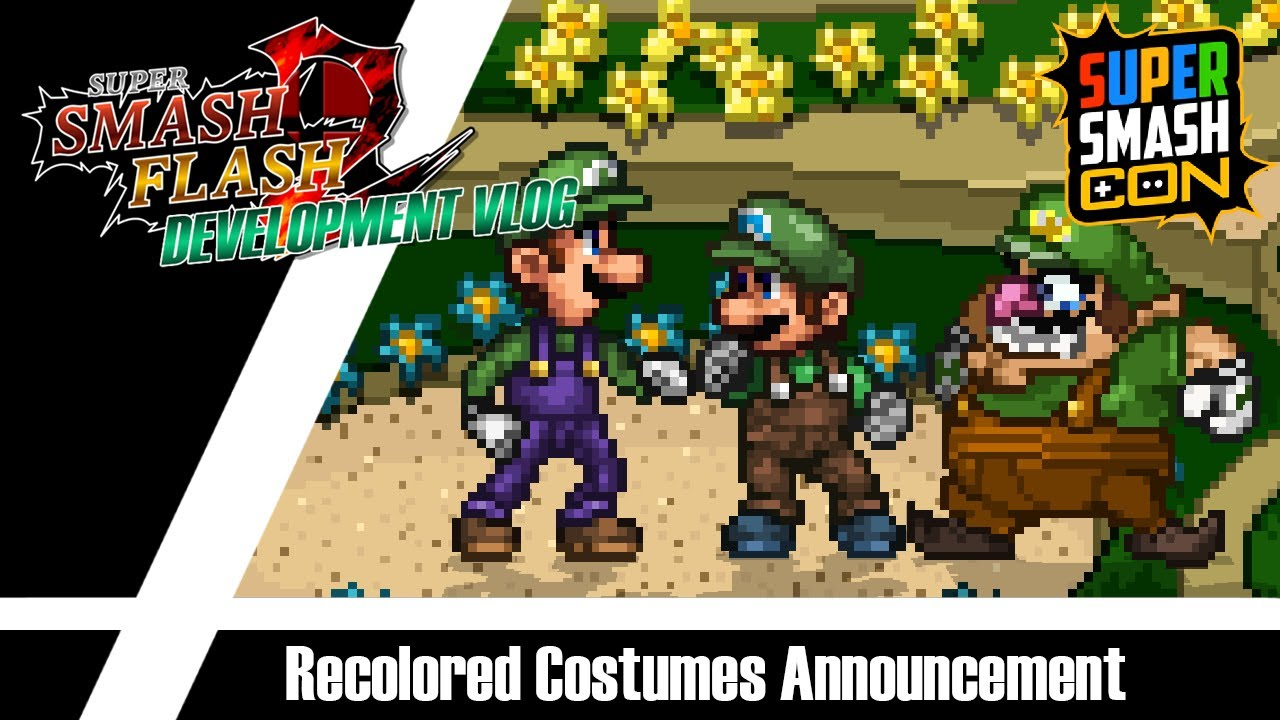 Super Smash Flash 2 Tier List 2020.Ssf2 Beta 1 2 Recolored Costumes Debut At Super Smash Con 2019