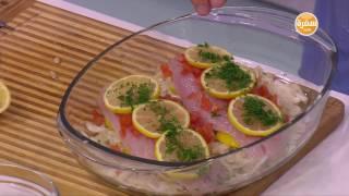 فيليه السمك الابيض بالليمون - شوربة كريمة الجمبري - سلطة فاصوليا حمراء | طبخة ونص حلقة كاملة