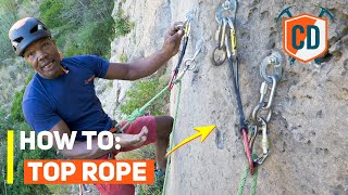 How To Set Uṗ A Top Rope Anchor | Climbing Daily Ep.1761