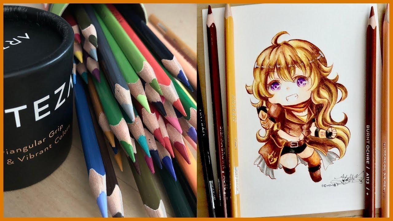 ARTEZA Watercolor Pencil Review - YouTube
