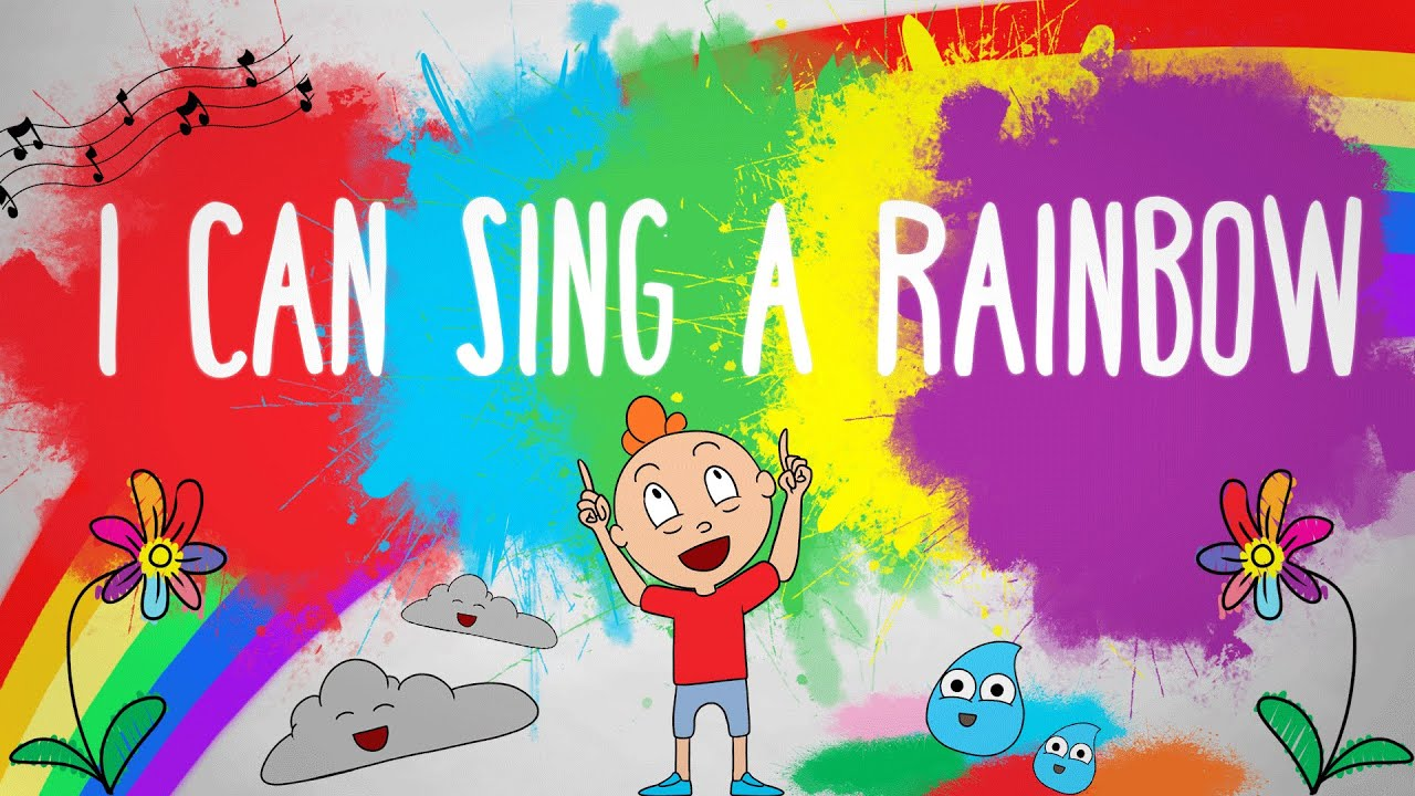 i can sing a rainbow children sing along song youtube