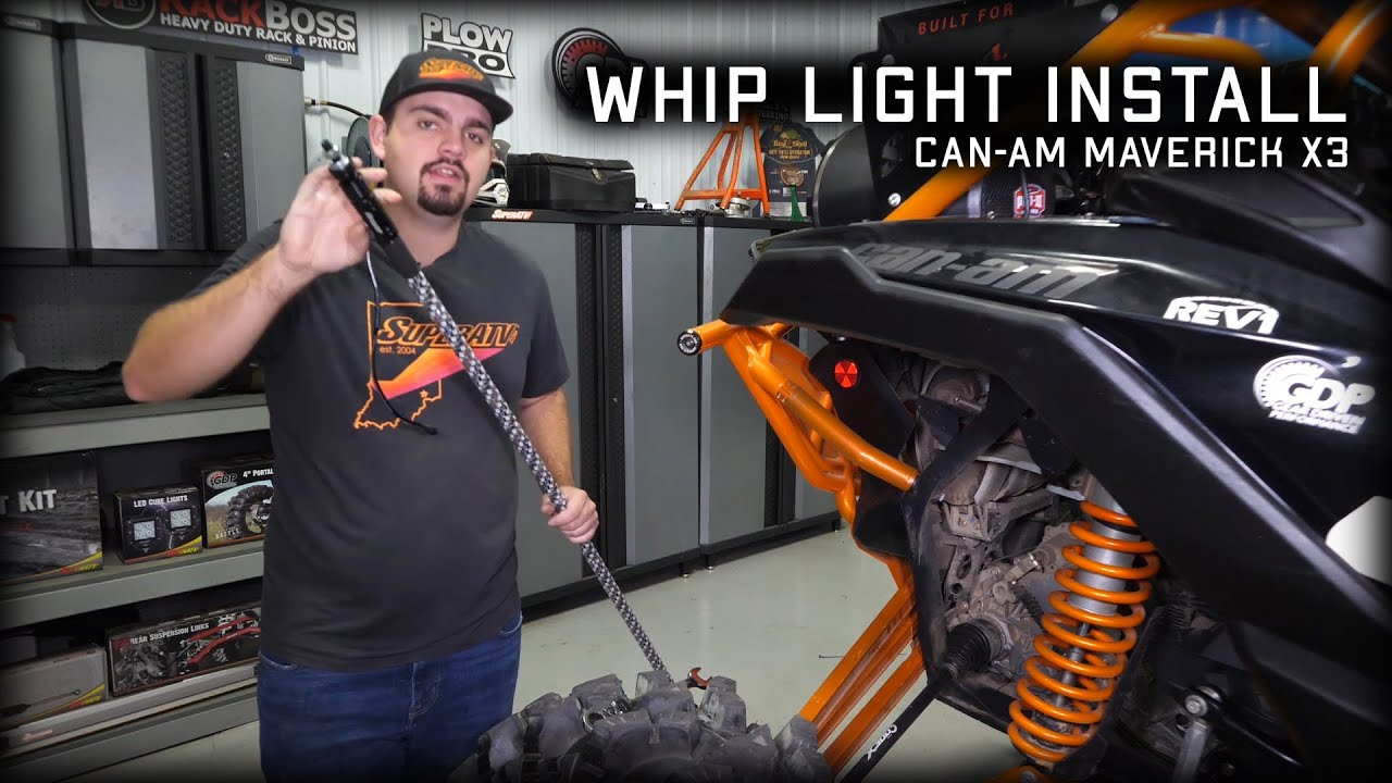 How To Install Whip Lights On Can Am Maverick X3 Superatv Youtube