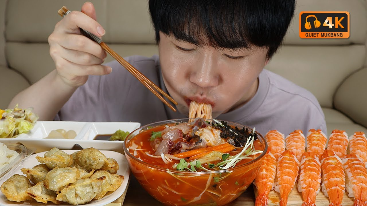 SUB 더울땐 물회죠.. Mulhoe(Cold raw fish soup) is the best when it's hot..Quiet Mukbang DoNam 조용한먹방