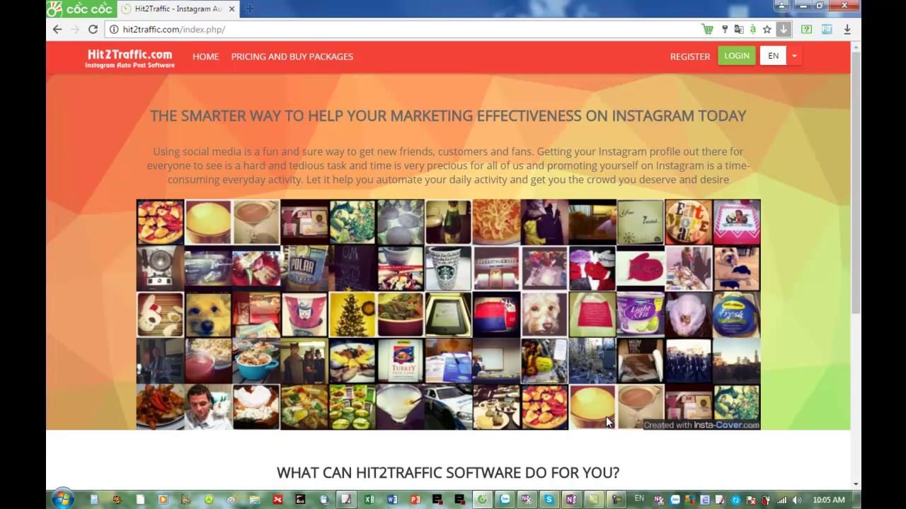 instagram auto post – Instagram marketing tool – Register & Login & Logout