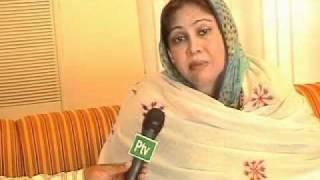 MNA Faryal Talpur interview with PTV Malik Imran Shahid Sukkur