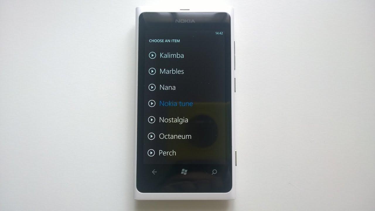 nokia lumia 800 sms tone