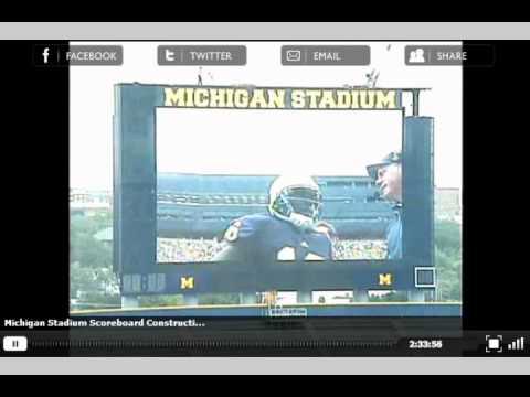 Michigan Stadium Scoreboard