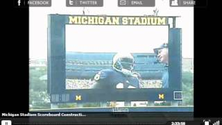 Michigan Stadium Scoreboard