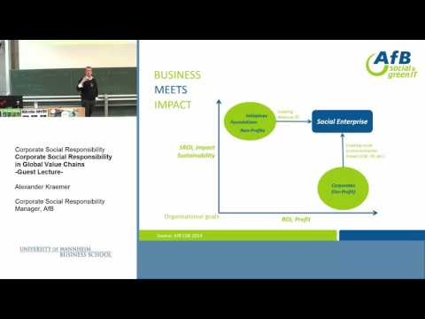 Corporate Social Responsibility in Global Value Chains - Guest Lecture by Alexander Kraemer