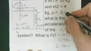 Solving For Force oḟ Tension - Mass, Pulley, and Table Problem