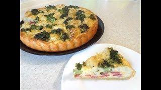 Пирог с капустой цветной и брокколи
