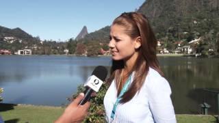 André Isac entrevista Melissa Martinez da RCN TV da Colômbia
