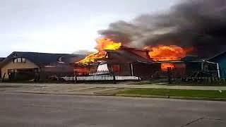 Cayó avioneta en Chile sobre dos casas: 6 muertos