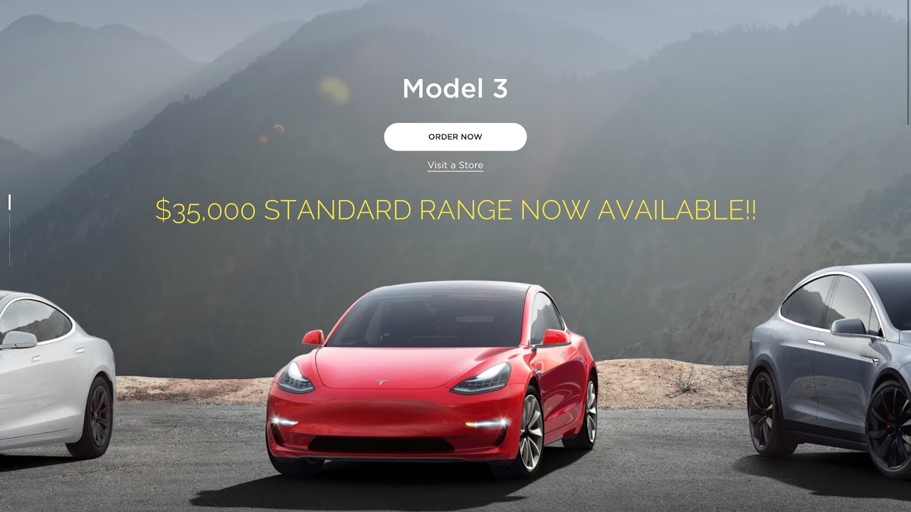 $35,000 Tesla Model 3 Now Available! (Full announcement details)