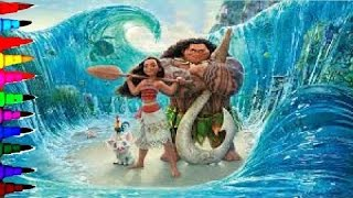 MOANA Disney Princess Of The Pacific Coloring Book Pages Kids …