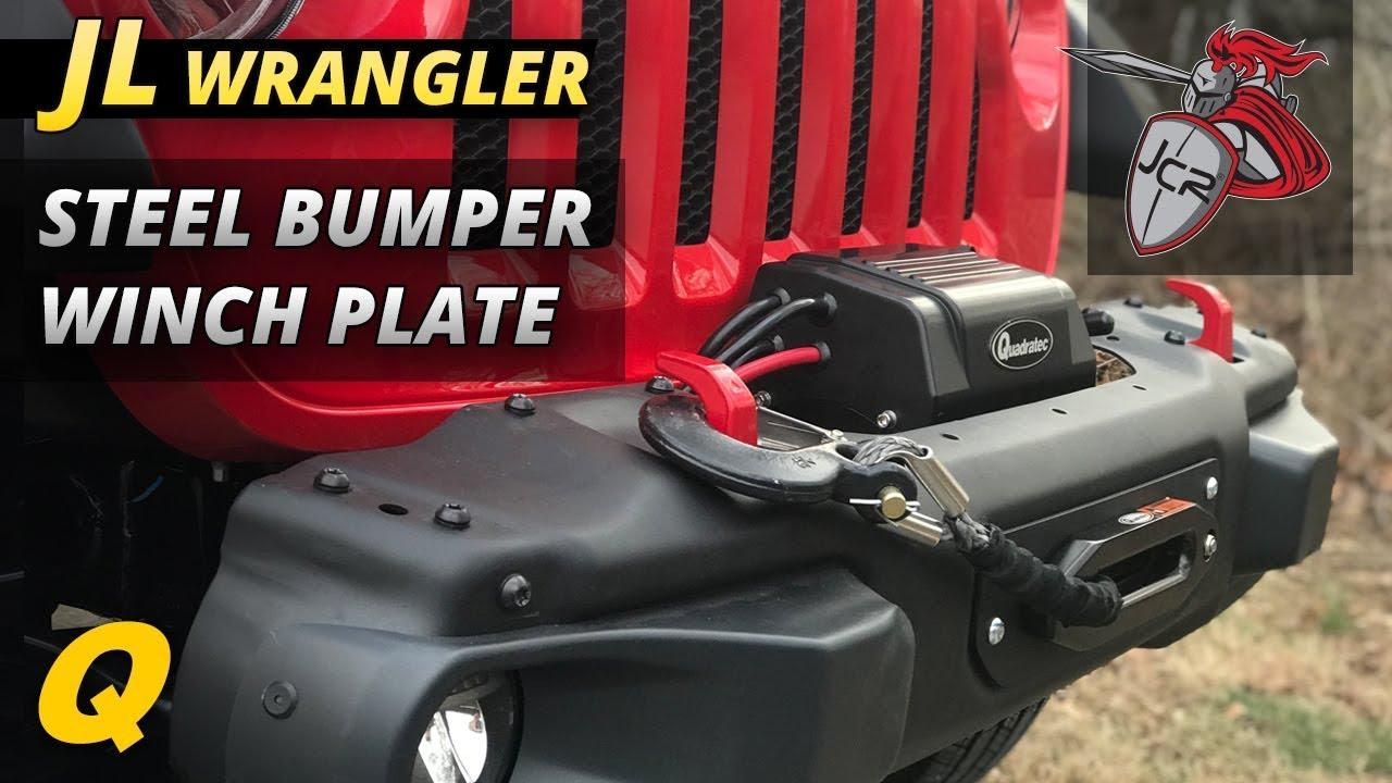 JCR Winch Plate for Jeep Wrangler JL Rubicon Steel Bumper