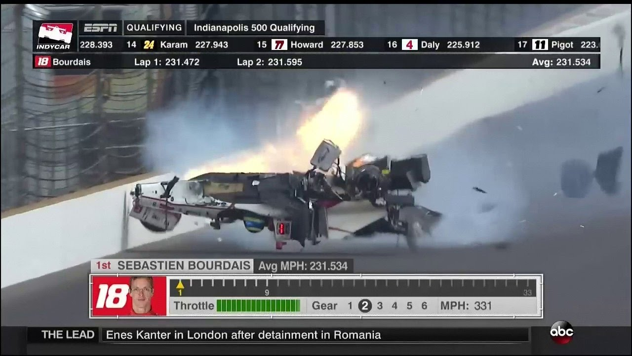 sebastien bourdais huge crash 2017 indy500 qualifying youtube. Black Bedroom Furniture Sets. Home Design Ideas
