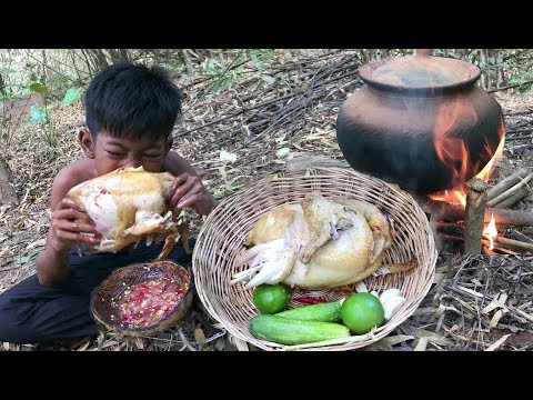 Cook Chicken In Clay Curd Pot  Cooking Full Chicken In Pot | Pot Chicken | Matka Chicken