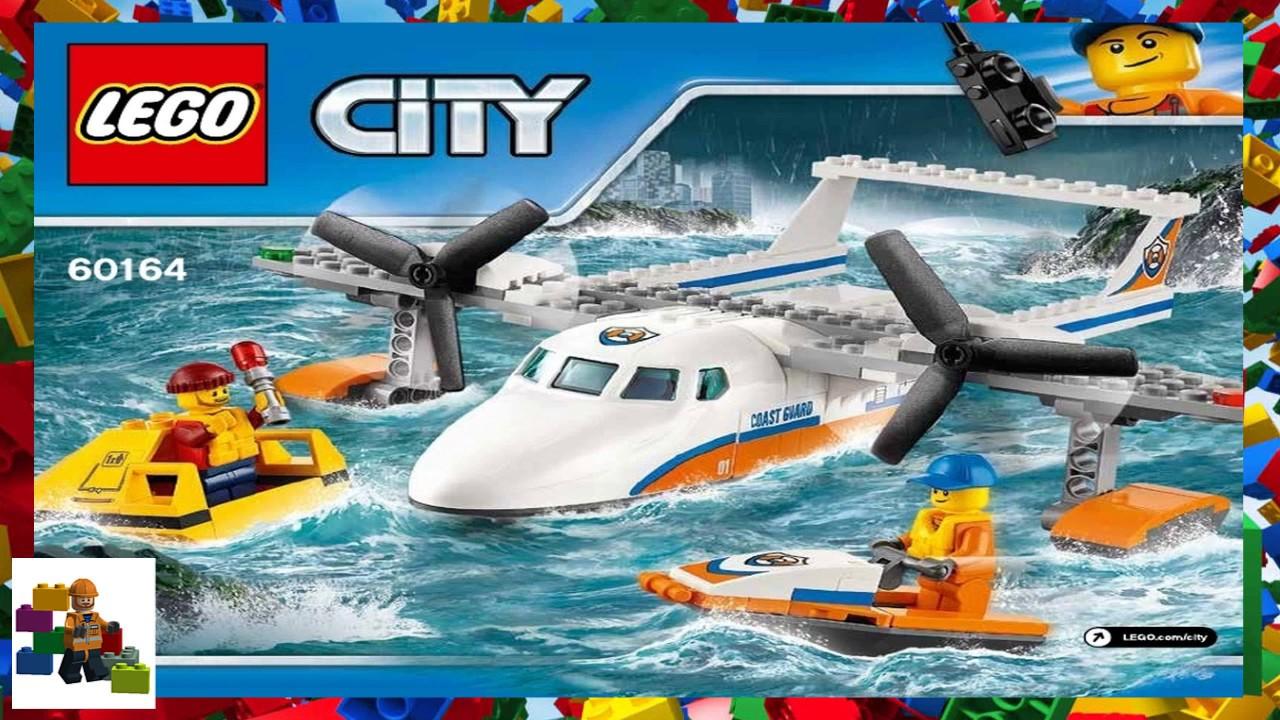 Lego Instructions City Coast Guard 60164 Sea Rescue Plane