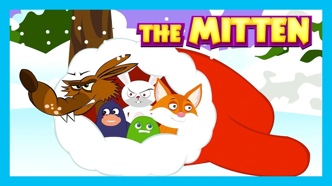 Christmas Stories For Kids.The Mitten Christmas Stories Kids Hut Stories Bedtime Stories For Kids Animated Stories