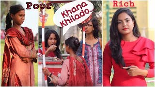 Street Child VS Rich Girl Asking For Food | Social Experiment in India |Funky Tv|