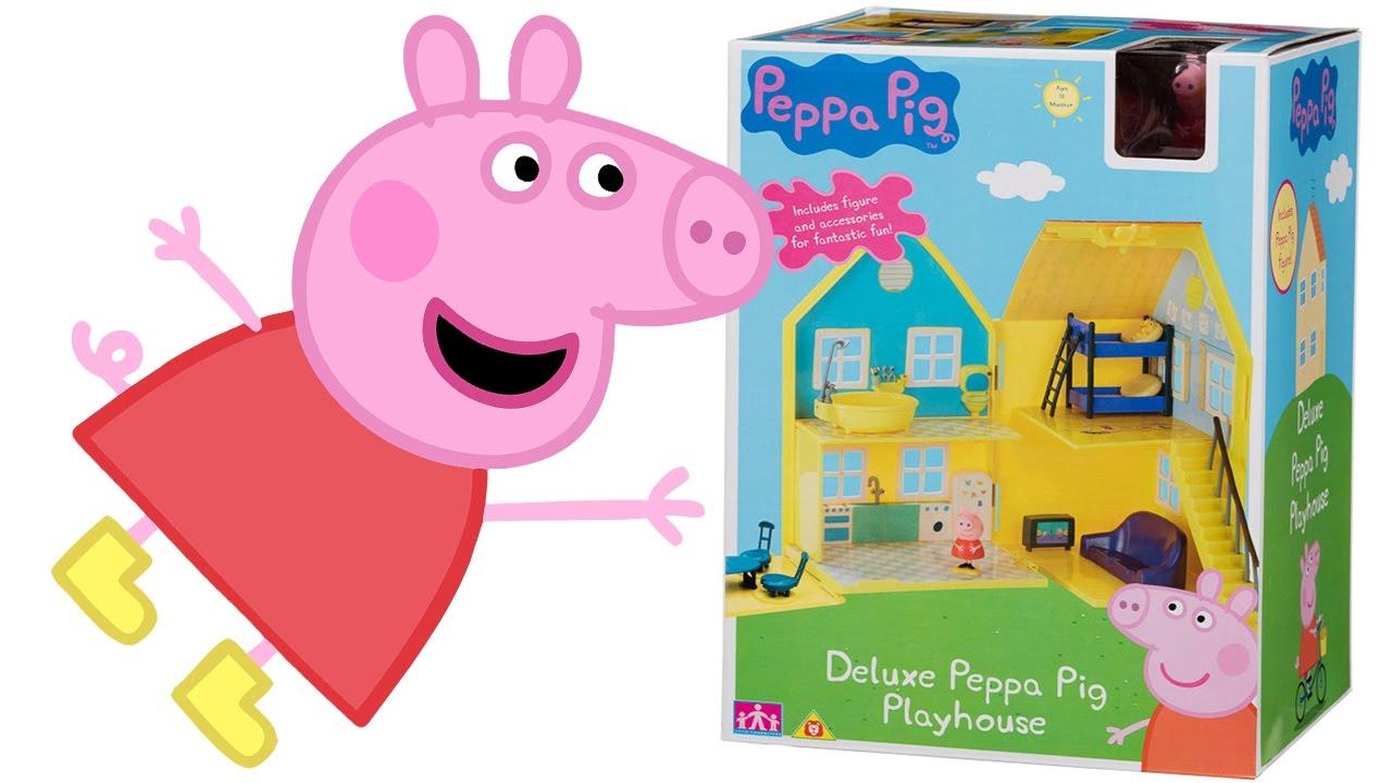 PEPPA PIG Italiano  Apriamo la Grande Casa di Peppa Pig Apertura Unboxing Giocattolo per