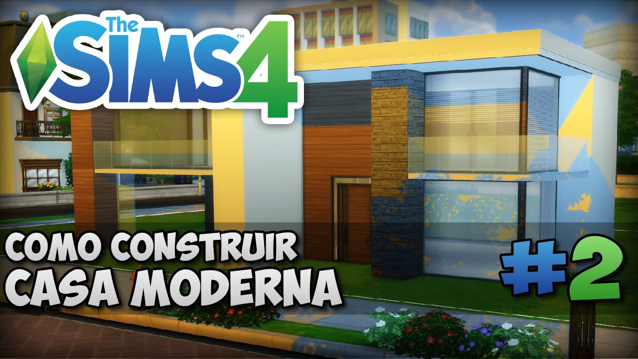 The sims 4 tutorial como construir uma casa moderna for Casas modernas sims 4 paso a paso