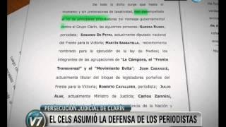 Visión 7: Repudian denuncia de Clarín a periodistas