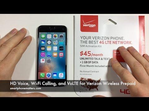 HD Voice, Wi-Fi Calling, and VoLTE for Verizon Wireless Prepaid