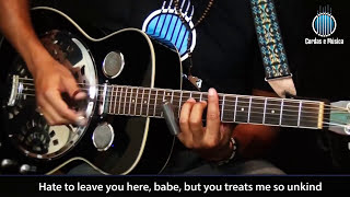 Violão Blues - Ramblin On My Mind (Robert Johnson) - Cordas e Música