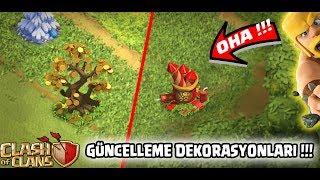 YENİ GELEN DEKORASYONLAR !!!(GÜNCELLEME !) | Clash Of Clans