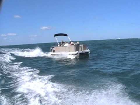 AUSTRALIAN PONTOON BOAT- OFFSHORE SEA TRIALS-TASMAN SEA-120810