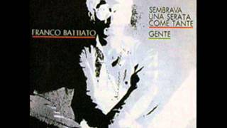 """Sembrava una serata come tante - Franco battiato - single """"Sembrava una serata ... / Gente"""", 1969"""