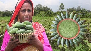 MOUTHWATERING Cooking Potoler Khosa Vorta Recipe FARM FRESH Pointed Gourd Peel Paste Village Food