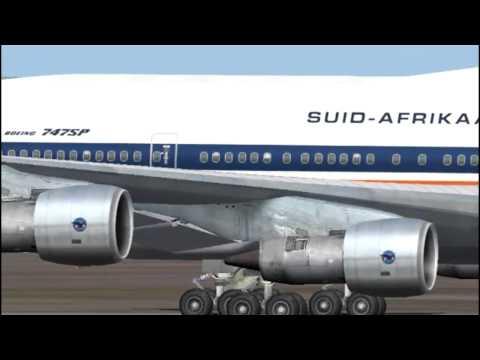 """SAA / SAL Boeing 747SP """"Maluti"""" Crosswind Landing ( In HD )"""